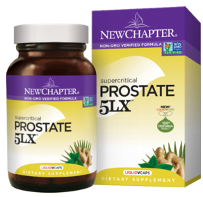 New Chapter Prostate 5LX promotes prostate support and may help maintain normal urine flow function.*