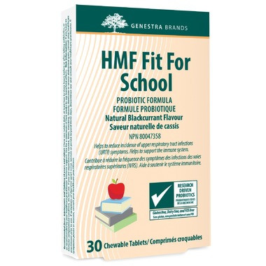 HMF Fit For School Probiotic Give your kids the immune support they need to stay healthy and reduce upper respiratory tract infections by 33%