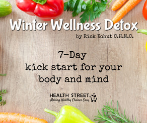 If you're feeling a little tired and sluggish after the Holiday break, it's likely you're in need of a detox! And what better way to welcome the New Year than with vital health and abundant energy?  Finally, a professionally designed detox program that uses food! Use this sensible, healthy eating meal plan to help you restore good health, cleanse those important organs and begin to shed those unwanted pounds!  This gentle yet powerful detox program uses strategies such as intermittent fasting, proper food combining, gentle herbal support and implementation of a delicious cleansing whole food diet. This detox has been carefully designed to offer an effective detox in a short 7 day period. You are helping your body's natural cleansing process by:  •	Resting your organs from overbearing digestive obligations •	Stimulating the liver to drive toxins from the body •	Promoting elimination through the intestines, kidneys and skin •	Improving circulation of the blood •	Refueling the body with healthy nutrients