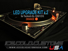 ICE COLD CUSTOMS USA / ORANGE LED Kit for Technics 1200/1210