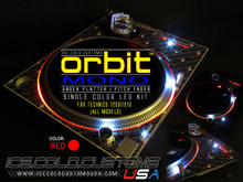 ORBIT MONO LED KIT - RED (SINGLE COLOR UNDER PLATTER/ PITCH)