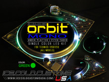 ORBIT MONO LED KIT - GREEN (SINGLE COLOR UNDER PLATTER/ PITCH)