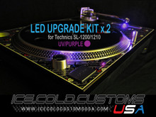 ICE COLD CUSTOMS USA / UV-PURPLE LED Kit for Technics 1200/1210