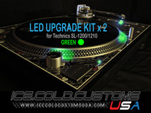 ICE COLD CUSTOMS USA / GREEN LED Kit x 2 for Technics 1200/1210
