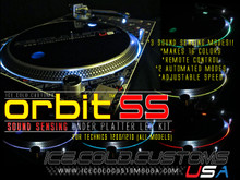 ICE.COLD.Customs / ORBIT-SS LED KIT (SOUND SENSING/MULTI-COLOR/REMOTE/ UNDER PLATTER ONLY)
