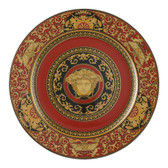 VERSACE MEDUSA RED SERVICE PLATE