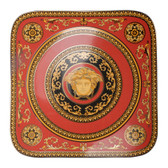 VERSACE MEDUSA RED SQUARE SERVICE PLATE