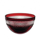 WATERFORD JOHN ROCHA RED CUT BOWL