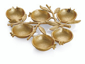 MICHAEL ARAM POMEGRANATE 6 COMPARTMENT PLATE