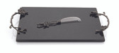 MICHAEL ARAM BLACK ORCHID CHEESE BOARD W/ KNIFE