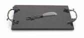 MICHAEL ARAM BLACK ORCHID CHEESE BOARD W/ KNIFE