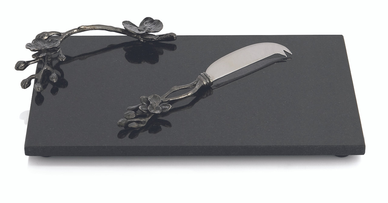 0ef8708532d8 MICHAEL ARAM BLACK ORCHID CHEESE BOARD W  KNIFE SMALL. Price   135.00.  Image 1. Larger   More Photos