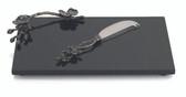 MICHAEL ARAM BLACK ORCHID CHEESE BOARD W/ KNIFE SMALL