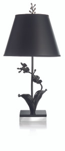 MICHAEL ARAM BLACK ORCHID TABLE LAMP