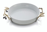 MICHAEL ARAM OLIVE BRANCH GOLD PIE DISH