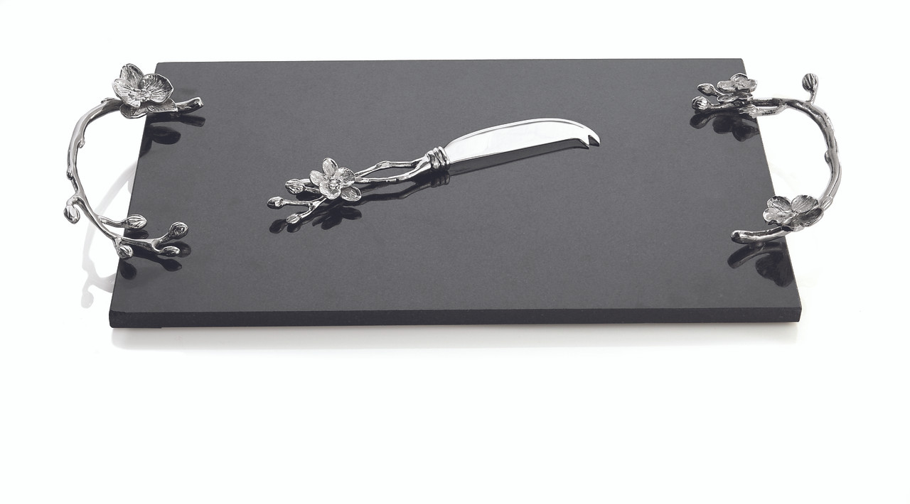 f6596f03d702 MICHAEL ARAM WHITE ORCHID CHEESE BOARD W  KNIFE LARGE. Price   200.00.  Image 1. Larger   More Photos