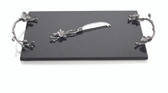 MICHAEL ARAM WHITE ORCHID CHEESE BOARD W/ KNIFE LARGE