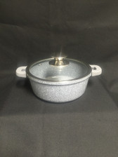 IMPERIAL CAST ALUMINUM POT 3QT MARBLE COAT