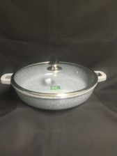 "IMPERIAL CAST ALUMINUM LOW POT 15"" MARBLE COAT"
