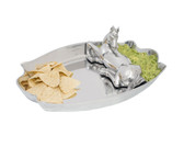 ARTHUR COURT HORSE FIGURAL CHIP AND DIP SET