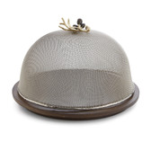 Olive Branch Mesh Dome w/ Wood Base