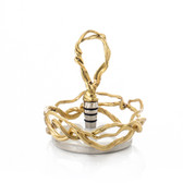 Wisteria Gold Wine Coaster & Stopper Set