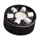 L'objet  /gold Corde Espresso Cup+Saucer(Set of 6)