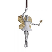BOTANICAL LEAF FAIRY ORNAMENT