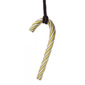 TWIST CANDY GOLD CANE ORNAMENT