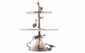 Black Orchid 2-Tier Etagere