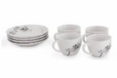 Black orchid Demitasse Set (Set of 4)