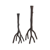 Enchanted Forest Candleholders Oxidized