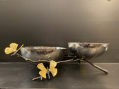 BUTTERFLY GINKGO DOUBLE DISH