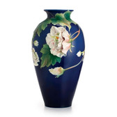 FRANZ COTTON ROSE FLOWER LARGE VASE