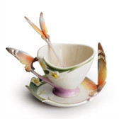 FRANZ PAPILLON BUTTERFLY HANDLE CUP/SAUCER SET