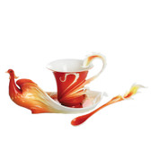 FRANZ PHOENIX IN FLIGHT BIRD CUP/SAUCER