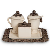 GG ACANTHUS LEAF COFFEE CONTAINER SET