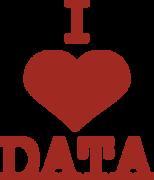 I Heart Data SVG Cut File