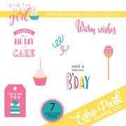 Birthday Girl SVG Cut Files #1
