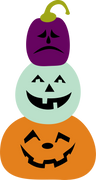 Three Pumpkins SVG Cut File
