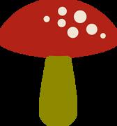 Mushroom #2 SVG Cut File