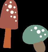 Mushrooms SVG Cut File