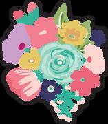 Princess Flower Bundle SVG Cut File