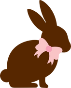 Chocolate Bunny SVG Cut File