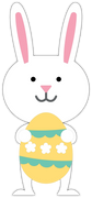 Bunny and Easter Egg SVG Cut File