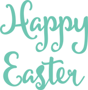 Happy Easter #2 SVG Cut File