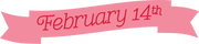 February 14th Banner SVG Cut File
