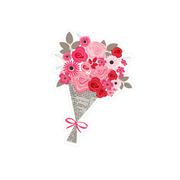Valentine's Flower Bouquet Print & Cut File