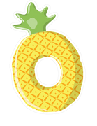 Pineapple Tube SVG Cut File