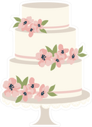 Wedding Cake with Flowers Print & Cut File
